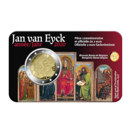 "2 Euro Coin Belgium 2020 ""Jan van Eyck Year"" BU in Coincard FR"