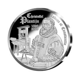 Pièce de 10 euros Belgique 2020 « 500 ans Christophe Plantin » Belle-épreuve en argent dans un étui