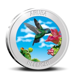Aruba 5 Florin 'Blenchi' 2020 Zilver Proof