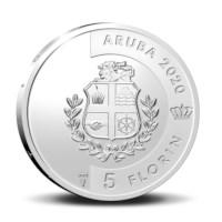 "Aruba 5 Florin ""Blenchi"" 2020 Silver Proof"