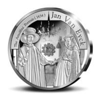 Pièce de 10 euros Belgique 2020 « Gothique – Jan van Eyck » Belle-épreuve en Argent