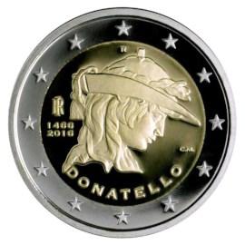 """Italië 2 Euro """"Donatello"""" 2016"""
