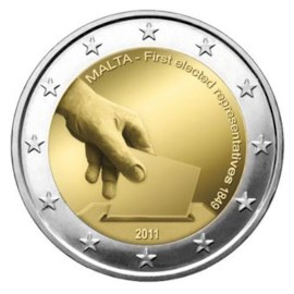 """Malta 2 Euro """"Eerste verkiezingen"""" 2011"""