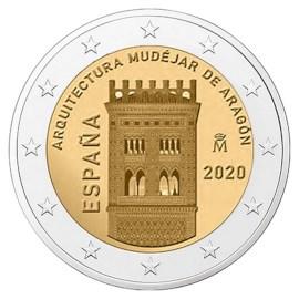 """Spanje 2 Euro """"Aragon"""" 2020"""
