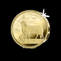 """Belgium 50 Euro Coin 2020 """"Jan van Eyck - Gothic"""" Gold Proof"""