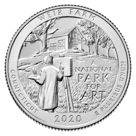 "US Quarter ""Weir Farm"" 2020 D"