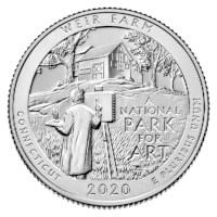 """US Quarter """"Weir Farm"""" 2020 P"""