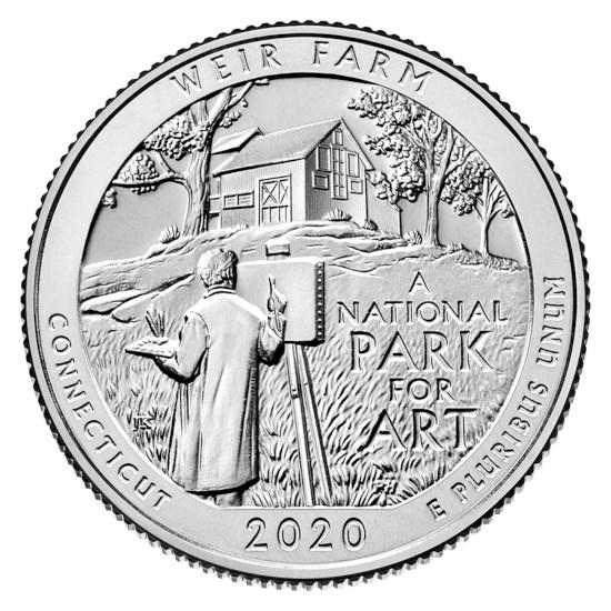 """US Quarter 52 """"Weir Farm"""" 2020 S"""