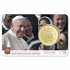 Vatican 50 Cent 2020 BU Coincard