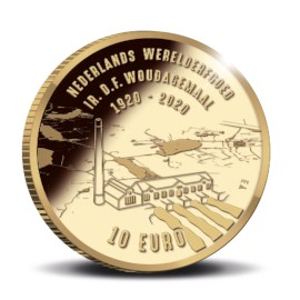 Woudagemaal 10 Euro Coin 2020 Gold Proof