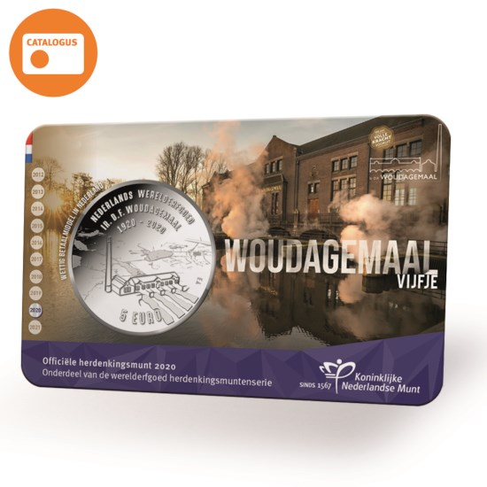 Woudagemaal 5 Euro Coin 2020 UNC-quality in Coincard