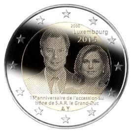 """Luxemburg 2 Euro """"15 Jaar Henri"""" 2015 UNC"""