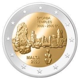 """Malta 2 Euro """"Skorba"""" 2020 UNC"""