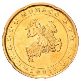Monaco 20 Cent 2001