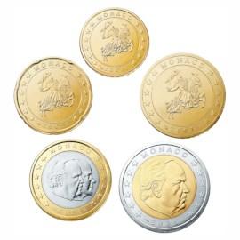 Monaco 10 cent t/m 2 euro 2002