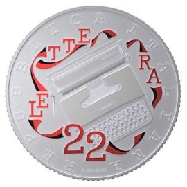 Italie 5 euros « Olivetti » 2020 Rouge