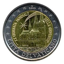"""Vaticaan 2 Euro """"Wereld Jongerendag"""" 2005"""