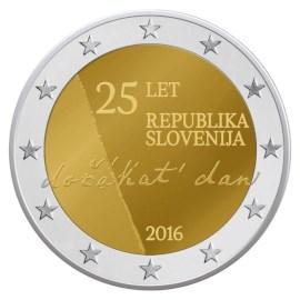 """Slovenië 2 Euro """"Onafhankelijkheid"""" 2016"""