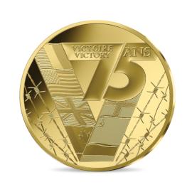 """France 50 euros """"75 ans de victoire"""" Belle-épreuve en or"""