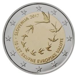 "Slovenië 2 Euro ""10 Jaar Euro"" 2017"