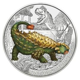 """Oostenrijk 3 Euro """"Ankylosaurus"""" 2020"""