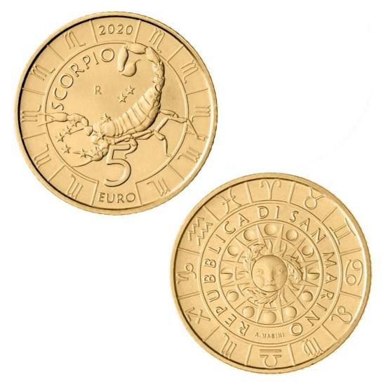 "San Marino 5 Euro ""Schorpioen"" 2020"