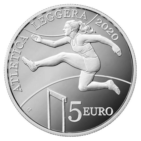 """San Marino 5 Euro """"Atletiek"""" 2020"""