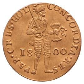 Gouden Dukaat Holland 1800 Zfr+