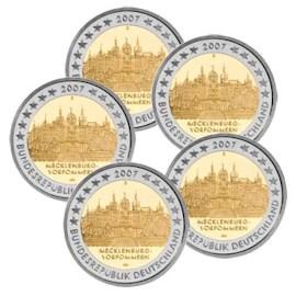 """Duitsland 2 Euro Set """"Mecklenburg-Vorpommern"""" 2007"""