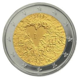 "Finland 2 Euro ""Mensenrechten"" 2008"
