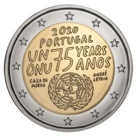 "Portugal 2 Euro ""Verenigde Naties"" 2020"