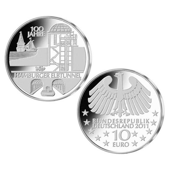 """Duitsland 10 Euro """"Elbtunnel"""" 2011"""