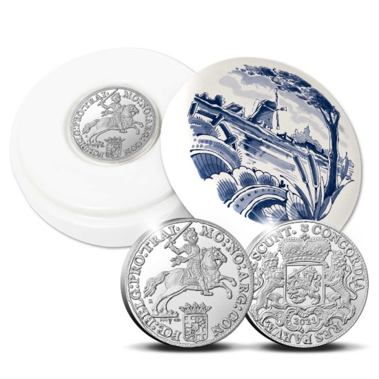 "Official Restrike: Ducaton 2021 ""Silver Rider"" 1 Ounce – Royal Delft Edition"