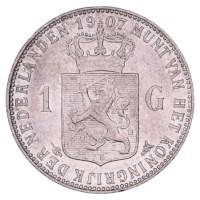 1 Gulden 1904-1908 Wilhelmina ZFr+