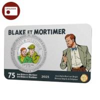 België 5 euromunt 2021 '75 jaar Blake en Mortimer' kleur BU in coincard