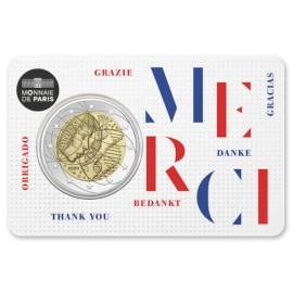 """Frankrijk 2 Euro """"Medisch Onderzoek"""" 2020 Coincard Bedankt"""