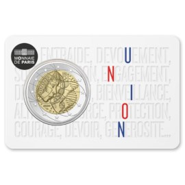 """Frankrijk 2 Euro """"Medisch Onderzoek"""" 2020 Coincard Eenheid"""
