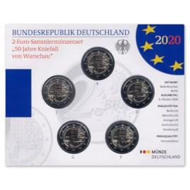 "Duitsland 2 Euro Set ""Warschau"" 2020 BU"
