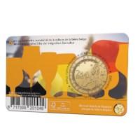 2,5 euromunt België 2021 '5 jaar Belgische Biercultuur immaterieel erfgoed' BU in coincard NL