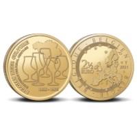 Pièce de 2,5 euros Belgique 2021 « 5 ans de patrimoine immatériel de la culture de la bière belge » BU dans une coincard NL