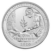 """US Quarter """"Marsh-Billings"""" 2020 P"""