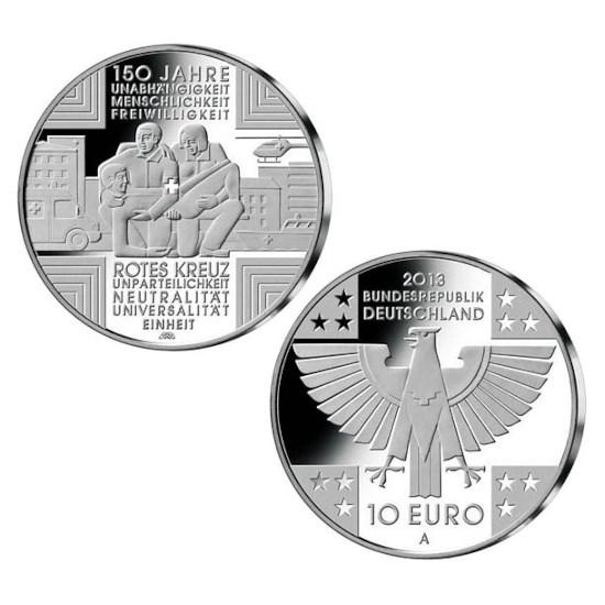 "Duitsland 10 Euro ""Rode Kruis"" 2013"