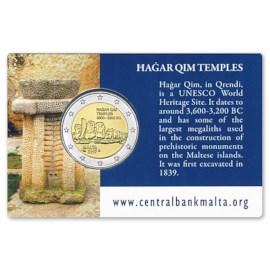 "Malta 2 Euro ""Hagar Qim"" 2017 BU Coincard"