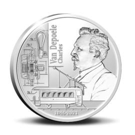 Pièce de 5 euros Belgique 2021 « 175 ans de Charles Van Depoele » Belle-épreuve en Argent