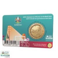 Pièce de 2,5 euros Belgique 2021 « UEFA EURO 2020 » BU dans une coincard NL