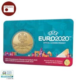 """Belgium 2.5 Euro Coin 2021 """"UEFA EURO 2020"""" BU in Coincard FR"""