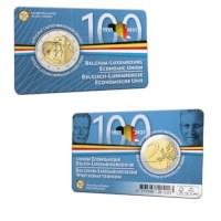 2 euromunt België 2021 '100 jaar BLEU' BU in coincard NL