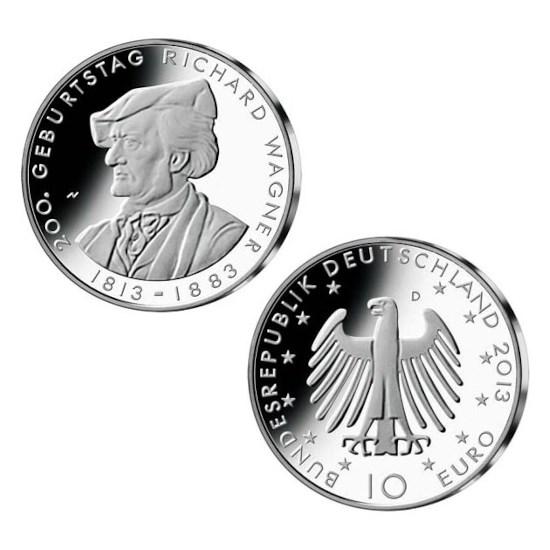 """Duitsland 10 Euro """"Wagner"""" 2013"""