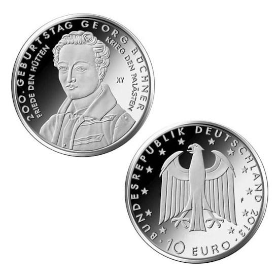 """Duitsland 10 Euro """"Büchner"""" 2013"""
