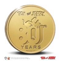 80 jaar Tom en Jerry multiview penning Goud 1 ounce